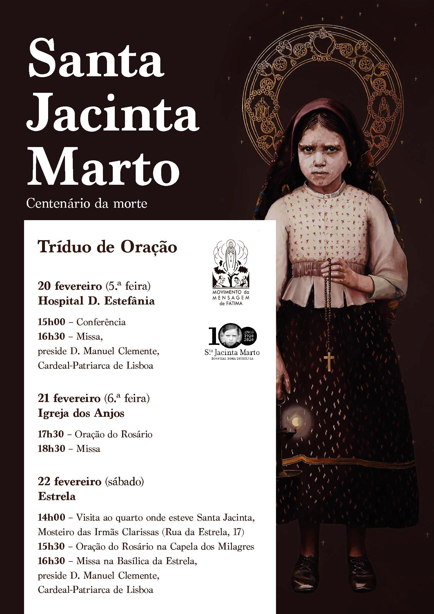 Centenário da morte de Santa Jacinta Marto