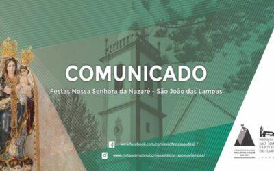 COMUNICADO – Festas de Nossa Senhora da Nazaré na Paróquia de São João das Lampas