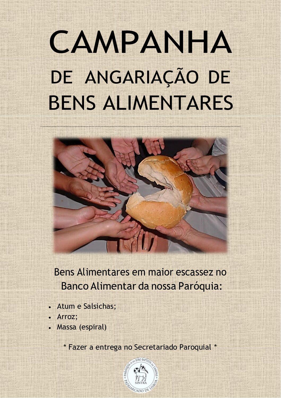 Campanha de angariação de bens alimentares