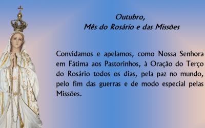 Outubro, Mês do Rosário e das Missões