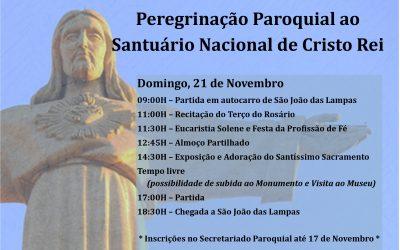 Peregrinação Paroquial ao Santuário Nacional de Cristo Rei de Almada